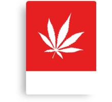 Marijuana Leaf | Lust Brick Canvas Print