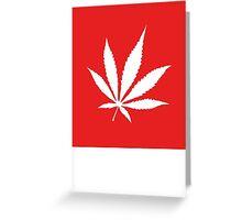 Marijuana Leaf | Lust Brick Greeting Card