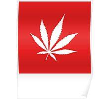 Marijuana Leaf   Lust Brick Poster