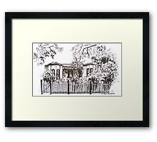 Kensington, Melbourne Victoria.  Bellair St.  Framed Print