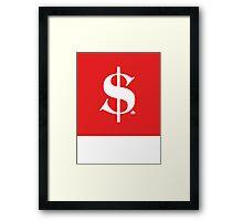 Dollar Diamond   Lust Brick Framed Print