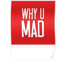 Why U Mad   Lust Brick Poster