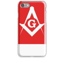 Masonic Compass | Lust Brick iPhone Case/Skin