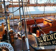 Bluenose Schooner Docked at Gloucester MA by Dennis Knecht