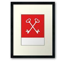 Masonic Keys   Lust Brick Framed Print
