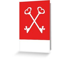 Masonic Keys | Lust Brick Greeting Card