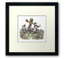 Han & Furball Framed Print