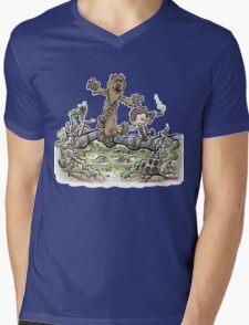 Han & Furball Mens V-Neck T-Shirt