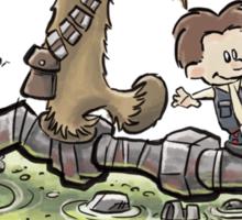 Han & Furball Sticker