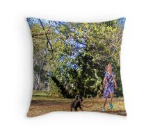 run spot run Throw Pillow