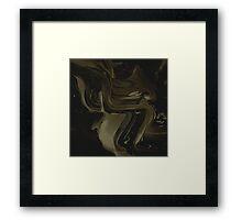 Abstract Black/Gold Paint Splatter Framed Print