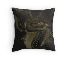 Abstract Black/Gold Paint Splatter Throw Pillow