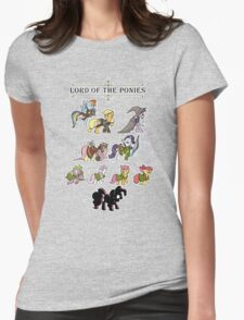 My little fellowship of the ring Womens Fitted T-Shirt