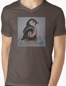 Don't Touch the Penguin Mens V-Neck T-Shirt