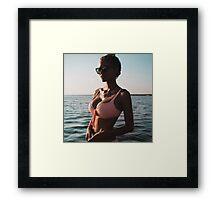 Summer Girl in the Sun  Framed Print