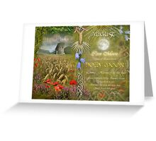 August : Holly Moon Greeting Card