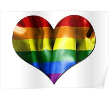 Gay Pride Love Heart Poster