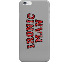 IRONIC MAN Vintage Red iPhone Case/Skin
