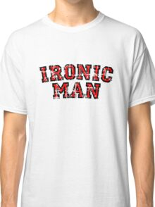 IRONIC MAN Vintage Red Classic T-Shirt
