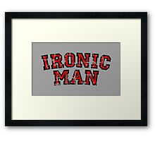 IRONIC MAN Vintage Red Framed Print