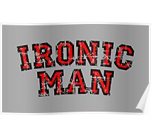 IRONIC MAN Vintage Red Poster