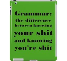 Grammar: The Difference Between Your and You're iPad Case/Skin