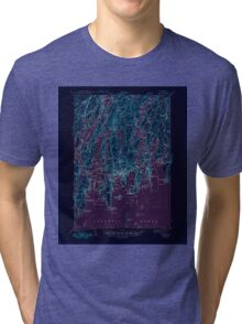 Maine USGS Historical Map Boothbay 460224 1943 62500 Inversion Tri-blend T-Shirt