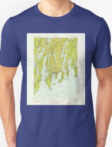 Maine USGS Historical Map Boothbay 460225 1941 62500 T-Shirt
