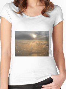 Coorong at sunset Women's Fitted Scoop T-Shirt