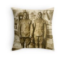 Black American World War I Infantry Soldiers Throw Pillow