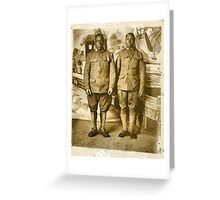 Black American World War I Infantry Soldiers Greeting Card