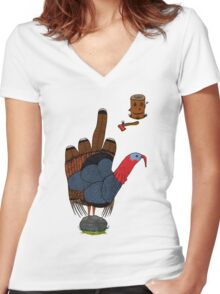 BIG BIRD Women's Fitted V-Neck T-Shirt