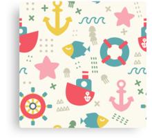 Stylish My Marine Adventure background.  Canvas Print