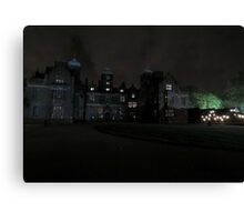 Aston Hall by Candlelight (Exterior) Canvas Print