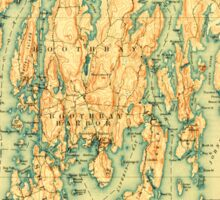 Maine USGS Historical Map Boothbay 807399 1893 62500 Sticker