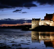 Eilean Donan Castle At Night by Mark Andrew Turner