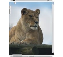 Alert Lion iPad Case/Skin