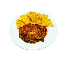 Chicken & Beef Chilli Cheese Nachos Photographic Print