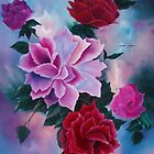 Roses   ORIGINAL OIL by SANDRA BROWN