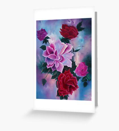 Roses   ORIGINAL OIL Greeting Card