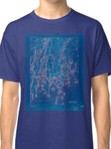 Maine USGS Historical Map Boothbay 807401 1893 62500 Inversion Classic T-Shirt