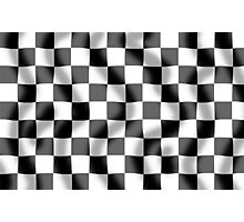 Chequered Flag Slight Ripple Photographic Print