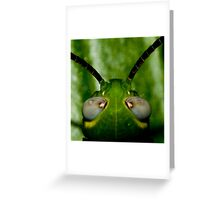 Alien Head Greeting Card