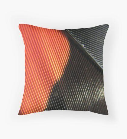 Firetail-tail cockatoo feather Throw Pillow