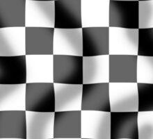 Chequered Flag Slight Ripple Sticker