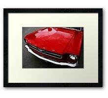 Simply Red Framed Print
