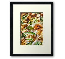 Pizza Topping Close Up Framed Print
