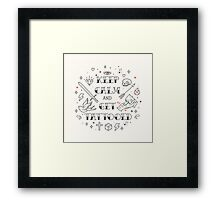 Keep calm and get tattooed Framed Print