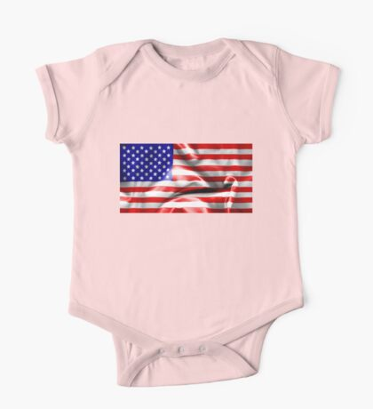 USA Flag One Piece - Short Sleeve