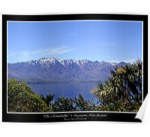 THE REMARKABLES, NEW ZEALAND Poster
